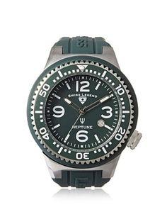 Swiss Legend Men's 21818S-F-NYJ Neptune Dark Green Silicone Watch
