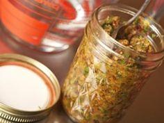 Homemade Veggie Bouillon, kept in jars in freezer, scoop-able even when frozen.