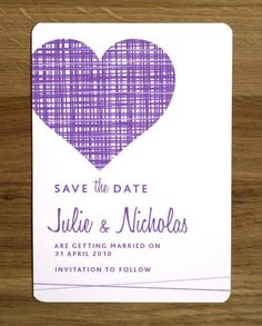simple save-the-date; maybe could do postcard style?