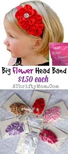 Flower Headbands for girls only a dollar fifty each, with FREE shipping options #Fashion, #OnlineDeals, #Headbands