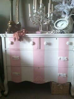 Striped dresser... love!