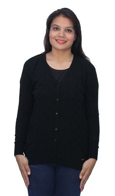 * Penny Deals * - Romano Women's Basic Long Sleeve Black Winter Sweater Cardigan * Read more at the image link.