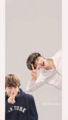 Chanbaek Fanart, Exo Chanbaek, Baekhyun Chanyeol, Park Chanyeol, Exo Couple, Kpop Exo, Ikon, Mom And Dad, Cute Boys