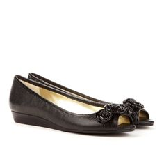 black flats with cute details