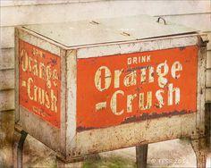 """8"""" x 10"""" Photo of Vintage Orange Crush Soda Bin  (Etsy)"""