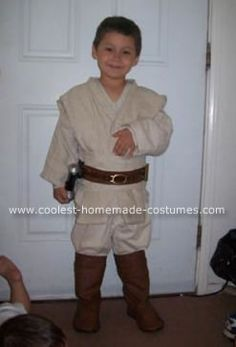 Homemade Young Anakin Skywalker Costume: My little boy just discovered Stars Wars. It all started with the day he got a lightsaber. We then watched the original Star Wars trilogy. This inevitably