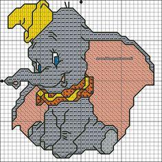 ENCANTOS EM PONTO CRUZ: Dumbo em Ponto Cruz