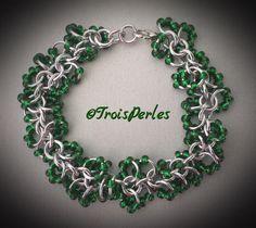 37  Chain Maille Armband  Chainmaille Bracelet von TroisPerles