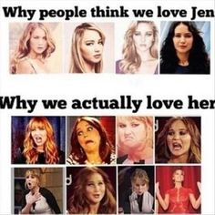 Jennifer Lawrence funny faces ♥