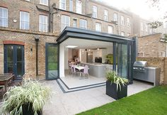 Kitchen extension 1 - contemporary - Patio - London - Architect Your Home - Interior Your Home House Extension Design, Glass Extension, Extension Designs, Roof Extension, House Design, Extension Ideas, Building An Extension, Bifold Doors Extension, Extension Google
