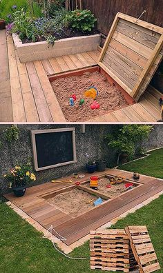 17 Cute Upcycled Pallet Projects for Kids Outdoor Fun Outdoor Fun For Kids, Backyard For Kids, Jacuzzi, Pallet Projects, Projects For Kids, Playground, Stepping Stones, Upcycle, Sweet Home