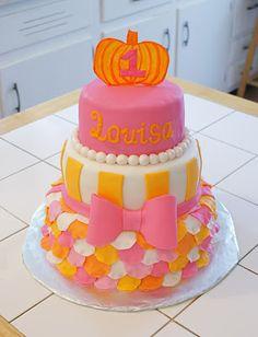 Pink and Orange cake! #cakesbymeg
