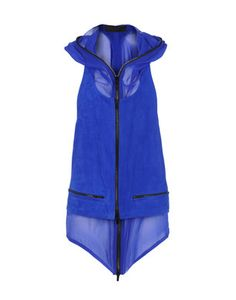 Leather and crepe vest by Haider Ackermann in muy favorite blue omg