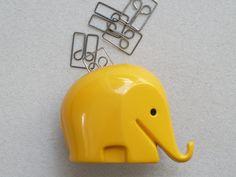cute little elephant paper clip holder?