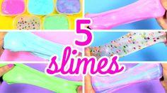 CÓMO HACER SLIME SIN BÓRAX 5 RECETAS En el tutorial de hoy te enseño a hacer 5 slimes sin bórax puro. Son recetas de slime utilizando productos fáciles de en...
