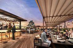 大阪城が目の前に広がる屋上レストラン「THE LANDMARK SQUARE OSAKA」、2017年秋オープン予定 [T-SITE]