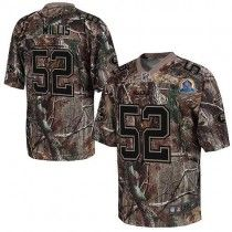 Nike 49ers #52 Patrick Willis Camo With Hall of Fame 50th Patch Men's Stitched NFL Realtree Elite Jersey