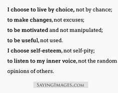 Live by choice