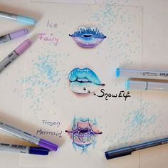 Drawings Ideas That feeling when you have to wait until next week to find out how your favorite show continues. xD I bet you all know that I used a reference picture for this one (the kitten's expression is just too cute - I needed to draw her! Amazing Drawings, Beautiful Drawings, Cute Drawings, Amazing Art, Lip Drawings, Drawing Lips, Makeup Drawing, Awesome, Drawing Tutorials