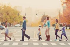 16 Family Portraits That Dont Even Try To Be Picture-Perfect -- zebra crossing!
