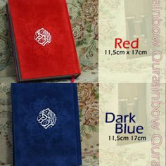Al-Quran Rainbow 11,5X17cm avail Red, Dark Blue @ 160 K GRAB IT FAST :D