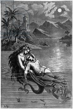Illustration for 'The Little Mermaid' from 'Fairy Tales' by Hans Christian Andersen (1805-75) 1869 (engraving)