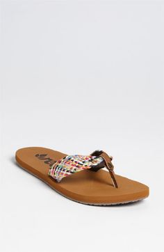 Free shipping and returns on Reef 'Mallory' Flip Flop at Nordstrom.com. Colorful, woven straps add a beachy touch to a summer-focused sandal crafted with anatomical arch support for daylong comfort.