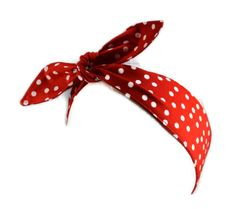 The Rosie Wrap, Rockabilly Hair Tie, Red with White Polka Dots,Pin Up, Hair Accessory, Ready to Ship on Etsy, $9.76