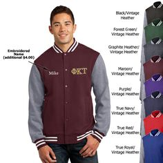 Fraternity Embroidered Varsity Letterman Jacket  #fraternity #clothing #gogreek #somethinggreek
