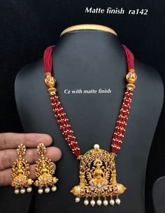 Temple Jewellery available at Ankh jewellery for booking msg on 1 Gram Gold Jewellery, Gold Jewellery Design, Bead Jewellery, Latest Jewellery, Temple Jewellery, Gold Jewelry, Beaded Jewelry, Beaded Necklace, Gold Necklace