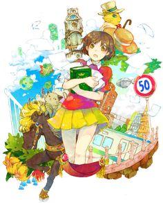 Whisper of the Heart | Hiiragi Aoi | Studio Ghibli / Tsukishima Shizuku, Baron Humbert von Gikkingen, and Moon / 「私、物語を書く!」/「水森」のイラスト [pixiv]