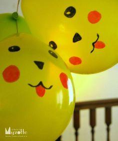 Globos de Pikachu para cumpleaños temática Pokemon - http://xn--manualidadesparacumpleaos-voc.com/globos-de-pikachu-para-cumpleanos-tematica-pokemon/