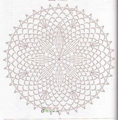 Doily Diagram - No linked pattern, just the image - but great if you can read them.This Pin was discovered by สุน Crochet Doily Diagram, Crochet Doily Patterns, Crochet Chart, Filet Crochet, Crochet Doilies, Crochet Flowers, Crochet Stitches, Crochet Circles, Crochet Round