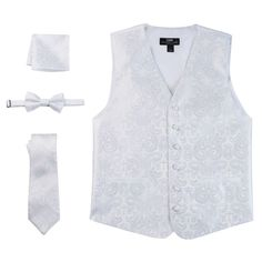 Steven Land Paisley 4-pc. Vest Set - Men, Size: Medium, White