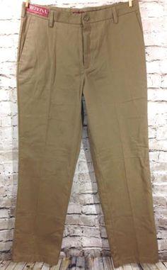 NWT Merona Ultimate Khaki Pants Sz 33 x 32 Men's Casual Dress Chino Slacks New #Merona #KhakisChinos