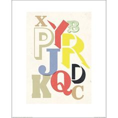 affiche Broken alphabet l.40xH.50 cm
