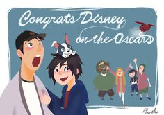 Feast won an Oscar for Best Animated Short & BH6 won an Oscar for Best Animated Feature! Yay!!!!!!!!!