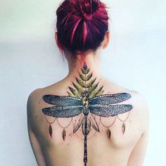 Dragonfly tattoo by Pis Saro. PisSaro insect dragonfly gorgeous ornamental
