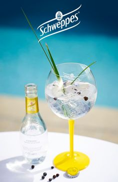 From Wheat to Gin avec du Schweppes Premium Mixer Tonic Original Cocktail Recipes, Cocktails, Cocktail Making, Gin And Tonic, Orange Blossom, Mojito, Martini, Mixer, Wine Glass