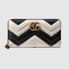 68f26dc277 GG Marmont zip around wallet Gg Marmont, Gucci Marmont, Clutch Wallet,  Leather Wallet