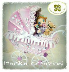 #carrozzina #babycarriagetopper    #pastadimais #babycake #carriage #marikacreazioniinpastadimais
