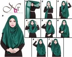 Hijab fashion,trend and tutorials on Pinterest | Hijabs, Modern Hijab ...