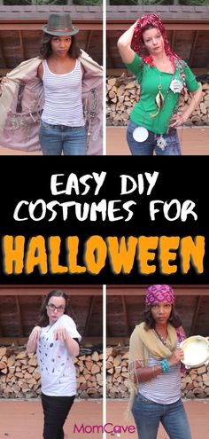 Are you ready to go trick or treating? We know you're busy so we've tried a few last-minute Halloween costume ideas that you can make with things you already have on hand. And the best part–they will cost you next to nothing. Let the haunting begin! #hallowee #halloweendiy #hallowingcostumes #momlife