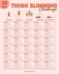 Leg Workout Challenge, 30 Day Challenge, Leg Gap Workout, Lower Body Challenge, 30 Day Workout Plan, Walking Challenge, Leg Workout At Home, Monthly Challenge, Squat Workout