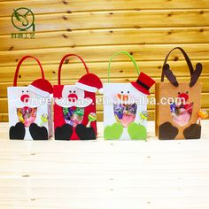 Source New Arrival Felt Handmade christmas gift bags in bulk on m.alibaba.com