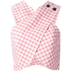 CARVEN checked cross-over blouse
