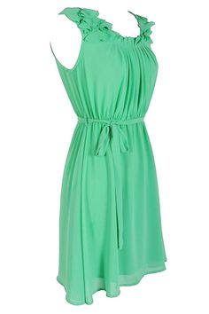 Green Chiffon dress from Lily Boutique