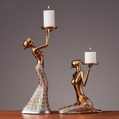 ・Candlesticks are a perfect decoration for a romantic atmosphere. ・Great decorations for Home, Office, Cafe, Bar Diy Mason Jar Lights, Mason Jar Lighting, Metal Candle Holders, Candle Stand, Diwali Decorations, Handmade Decorations, Fairy Statues, Window Display Design, Hanging Candles
