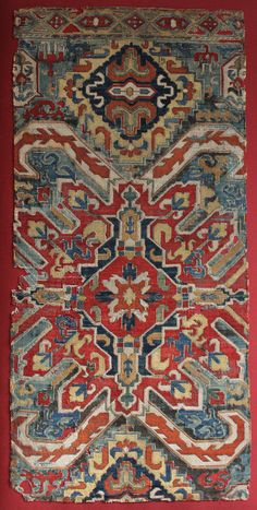 IMPORTANT SILK EMBROIDERY  102 x 47 cm  18th century or earlier.  Karabagh Region.  Textile with Stylized Embroidered Pattern. Linen, cross stitch silk. Lit: EMBROIDERED FLOWERS FROM THRACE TO TARTARY - David Black - London 1981, fig. n°16 / TEXTILES ART OF THE CAUCASUS - THE TEXTILEE GALLERY. Michael and Jacqueline Franses - London 1996, fig. n°4. ISLAMIC TEXTILES - PATRICIA L. BAKER - BRITISH MUSEUM PRESS - 1995 London, pag 143.   WWW.DAVIDSORGATO.COM