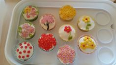 My hand decorated cupcakes :)